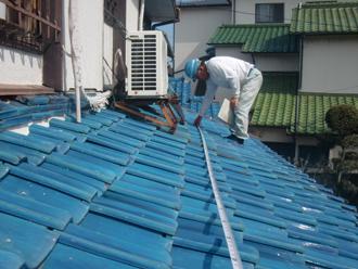 屋根の現地調査(採寸)