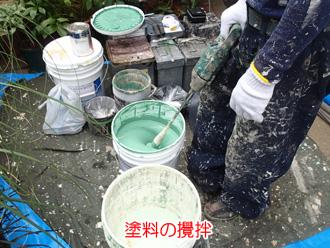 塗料の攪拌