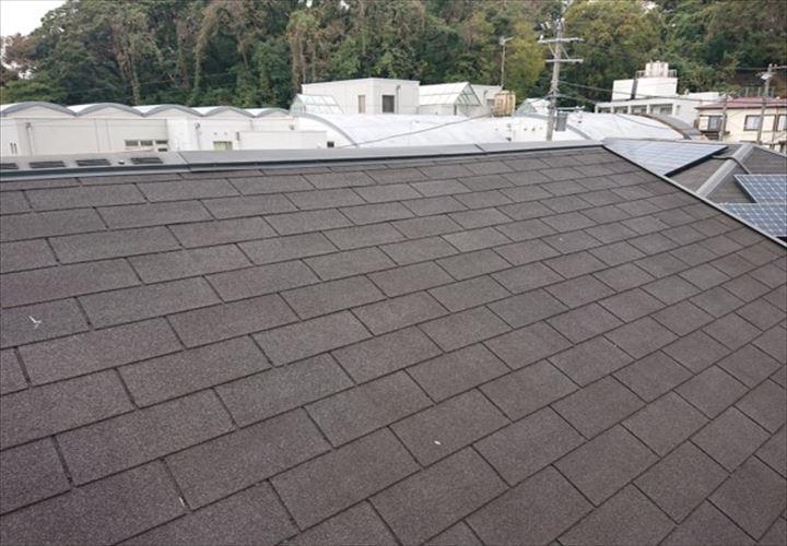 アスファルトシングルが使用された屋根