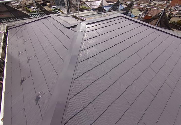 棟板金を交換し遮熱塗料サーモアイSiで屋根塗装