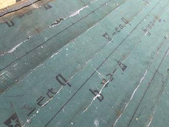防水紙の経年劣化