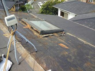 天窓撤去工事 屋根材撤去