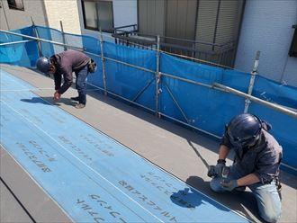 切妻屋根の施工
