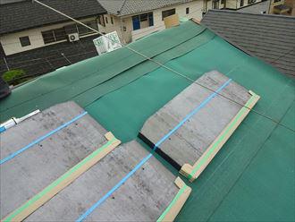 天窓撤去工事 防水紙設置