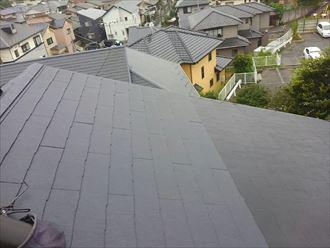 天窓撤去工事 屋根材設置完了
