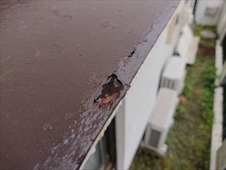 腐食が酷い時は塗装ではまともに修繕はできません