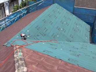 スレートへの屋根カバー工法