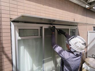 窓の工事の様子