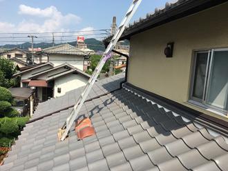 雨漏り箇所の点検 高所での点検は危険