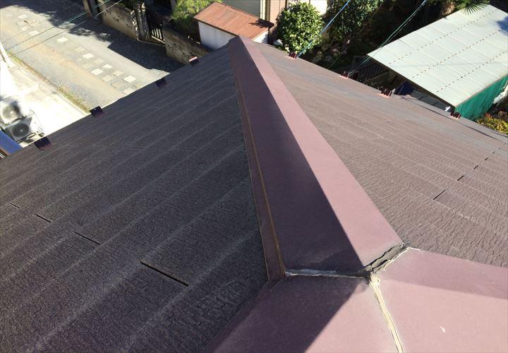 スレート材が劣化してしまった屋根