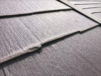 横浜市南区平楽で塗装ご希望の屋根を調査したところ、塗装できないパミールという屋根が使われていました