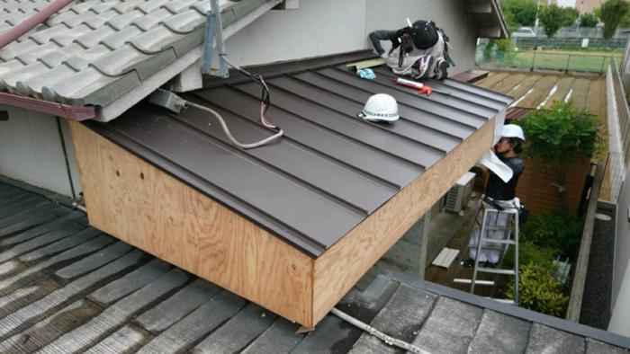 屋根を伸ばす