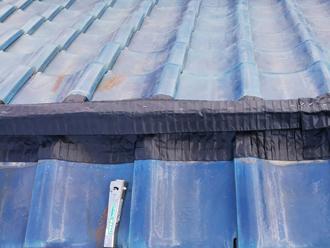 ガイドライン工法によって湿式の棟を乾式に交換