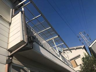バルコニーの屋根(後付け)