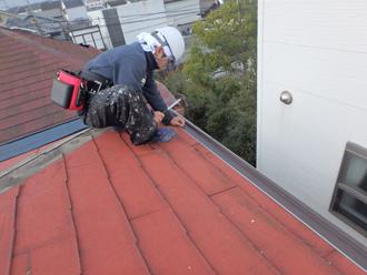 屋根カバー工法の事前調査