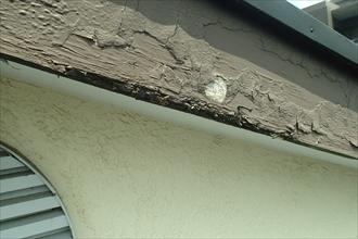 都筑区のアパートで屋根の点検 傷んだ破風板