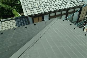 都筑区のアパートで屋根の点検 屋根の状態