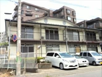 都筑区のアパートで屋根の点検