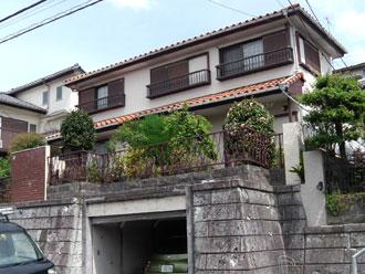 横浜市青葉区 棟取り直し工事 屋根部分葺き替え工事 外壁塗装工事 施工前