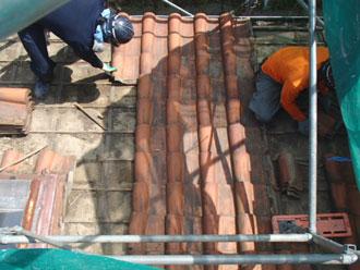 横浜市青葉区 屋根葺き替え 既存屋根解体