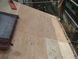 横浜市青葉区 屋根葺き替え 野地板増し張り