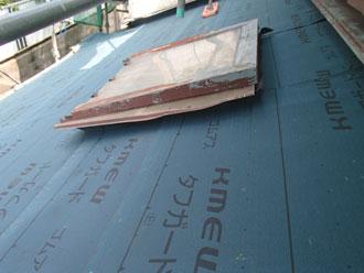 横浜市青葉区 屋根葺き替え 防水紙設置