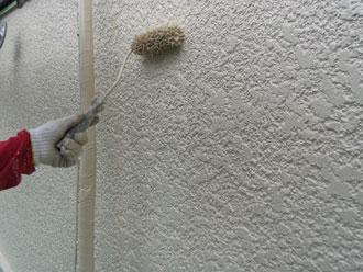 横浜市青葉区 外壁塗装 上塗り