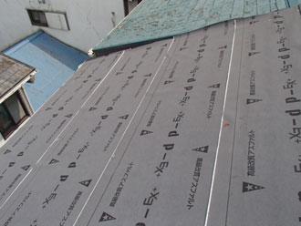 保土ヶ谷区 屋根カバー 防水紙設置