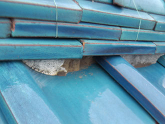 横浜市港北区 屋根点検 漆喰劣化