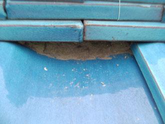 横浜市港北区 屋根点検 漆喰劣化 剥がれ
