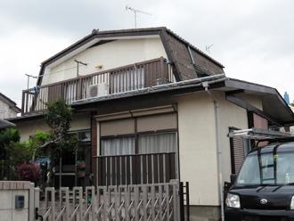 横浜市都筑区 屋根カバー 外壁塗装 施工前