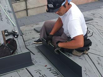 横浜市緑区 屋根カバー 金属部分加工