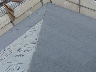 横浜市緑区 屋根カバー 屋根材葺き エコグラーニ