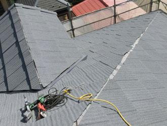横浜市緑区 屋根カバー 屋根材葺き終了 エコグラーニ