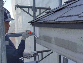 横浜市緑区 細部塗装 破風板塗装