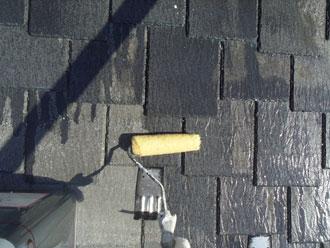 横浜市緑区 屋根塗装 下塗り