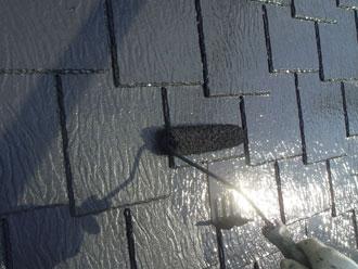 横浜市緑区 屋根塗装 上塗り ルーフマイルドSi